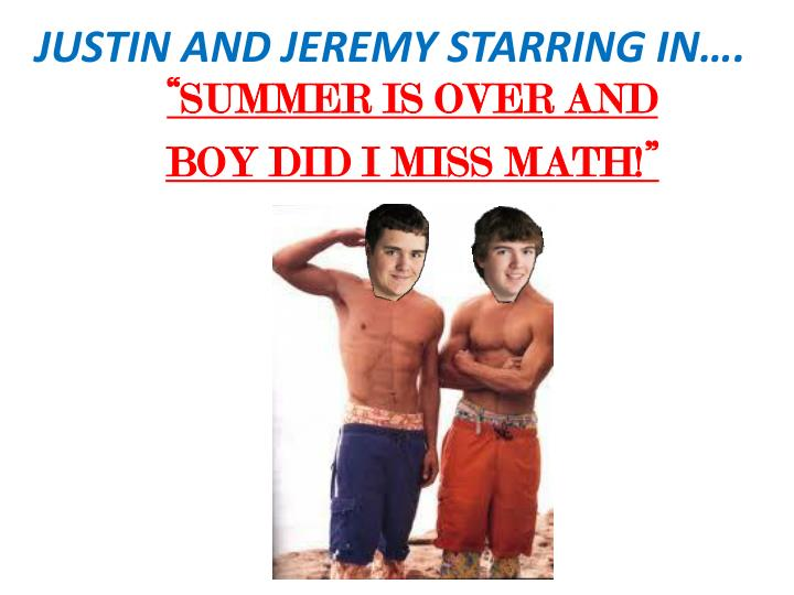 justin and jeremy starring in n.