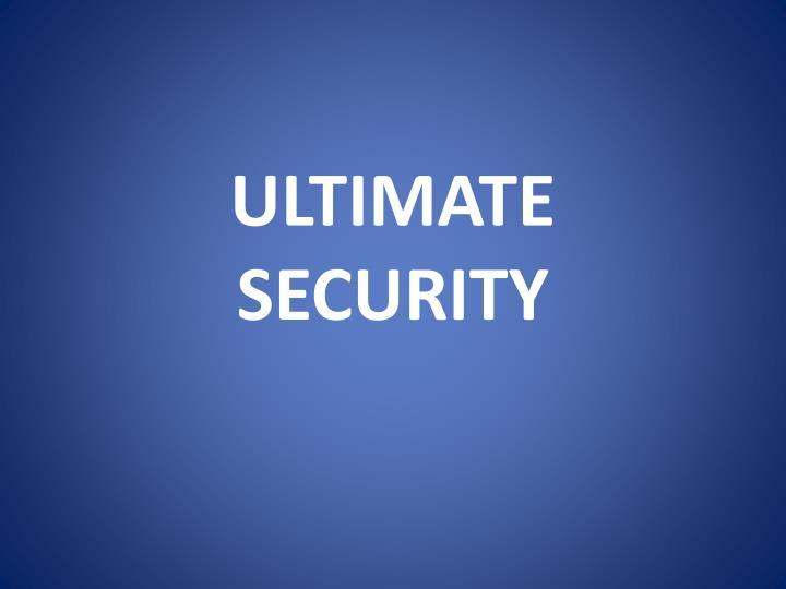ultimate security n.