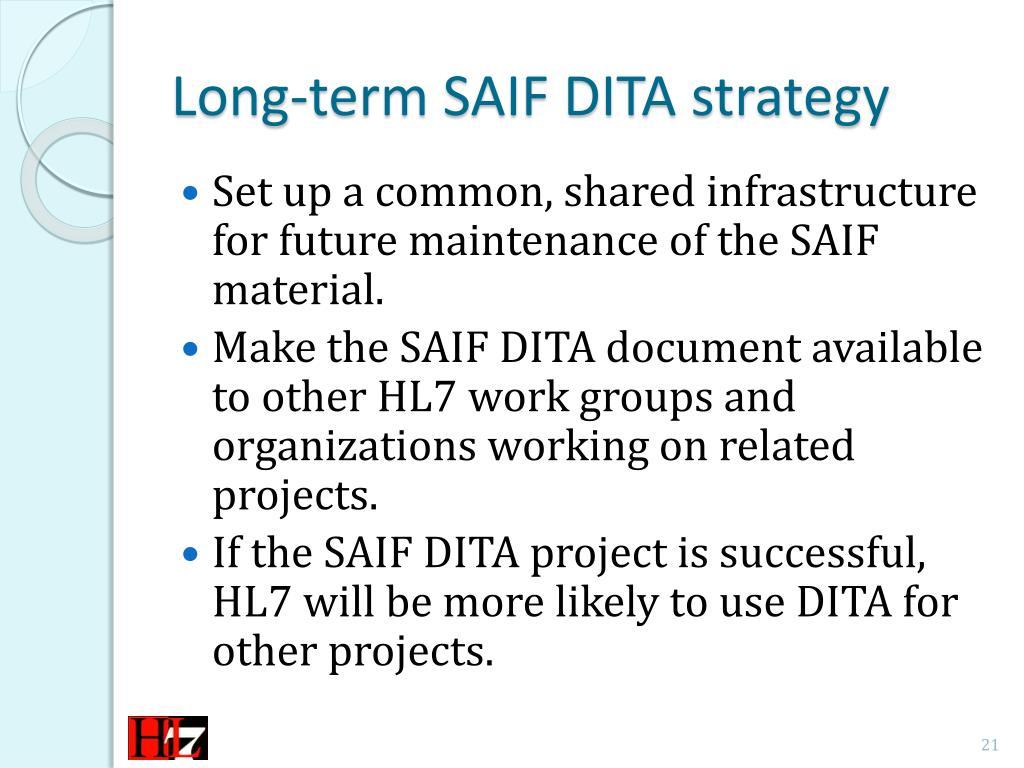 PPT - SAIF DITA Training PowerPoint Presentation - ID:2159079