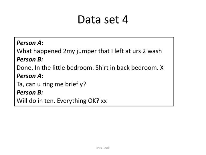 Data set 4