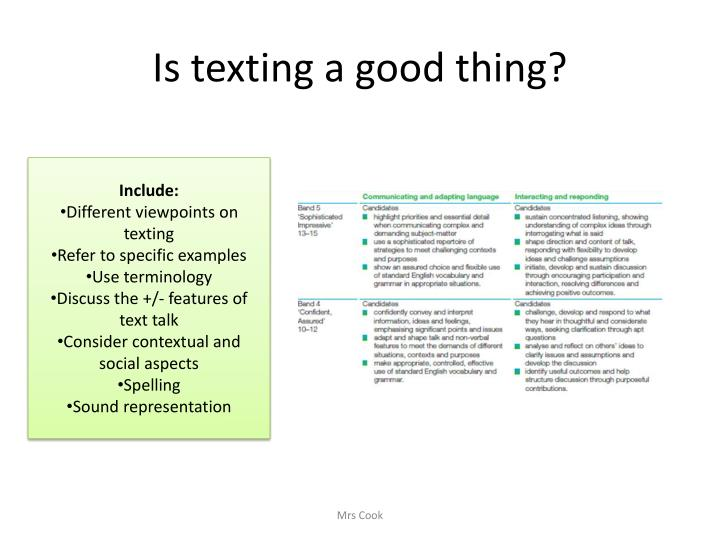 Is texting a good thing?