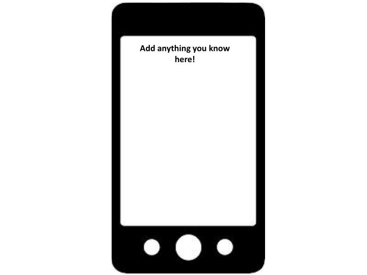 Add anything you know here!