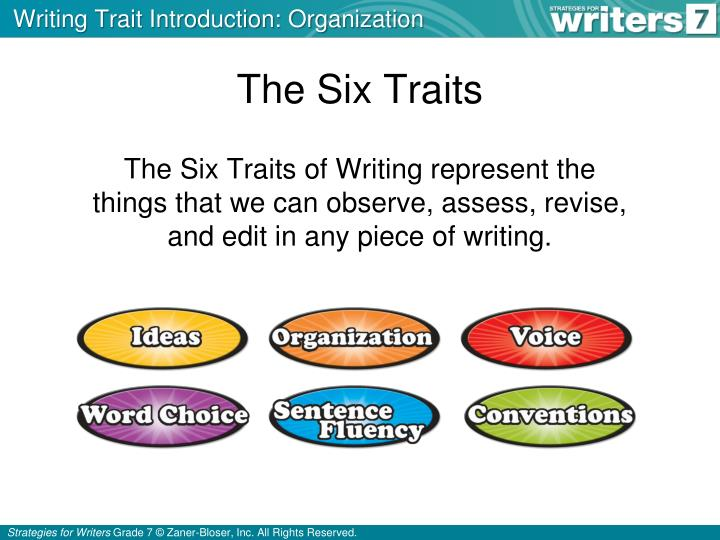 six traits of writing essay Research paper & 6 + 1 traits of writing research paper rubric as in all writing assignments  quotations than an essay written by the student.