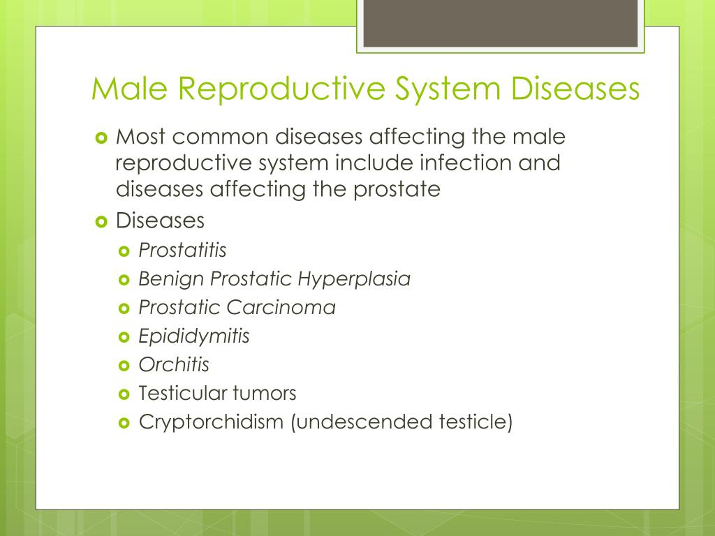 Ppt Reproductive System Diseases And Disorders Powerpoint Presentation Id 2159302