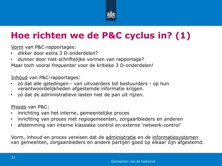 Hoe richten we de P&C cyclus in? (1)