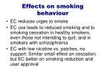 effects on smoking behaviour