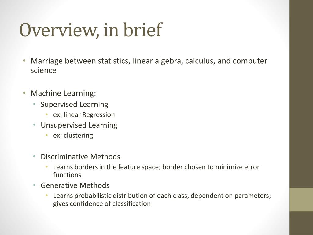 PPT - A cursory glance at machine learning PowerPoint Presentation