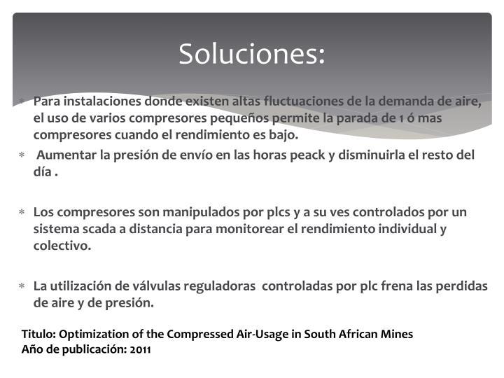 Soluciones: