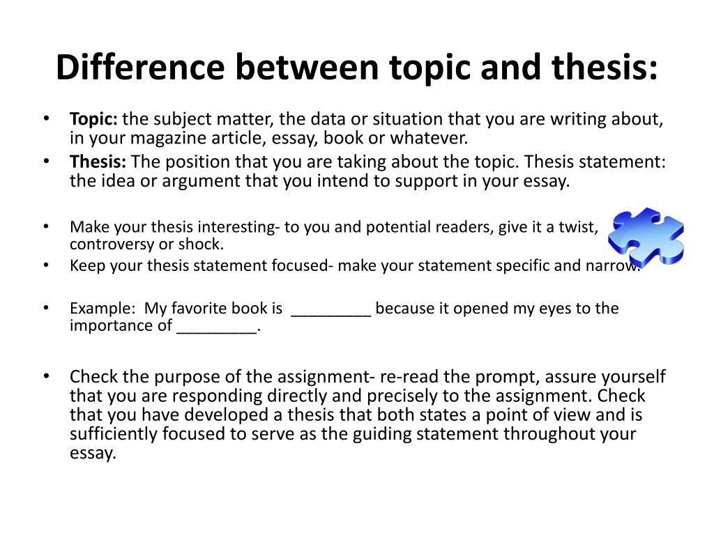 topic sentence in literary analysis