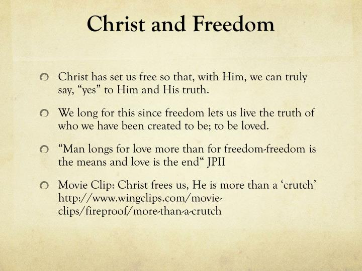 Christ and Freedom