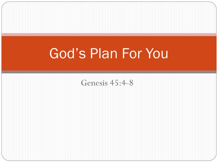 god s plan for you n.
