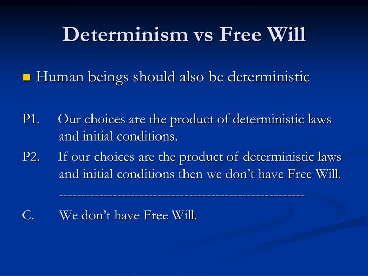 determinisms relation to free will Free will versus determinism as it relates to cryonics determinism implies materialism — implies that consciousness is material cryonics is based on the premise that the preservation of the fine structure of the brain at low temperature will preserve the self — ie, that the self is entirely determined-by and contained-in the physical brain.