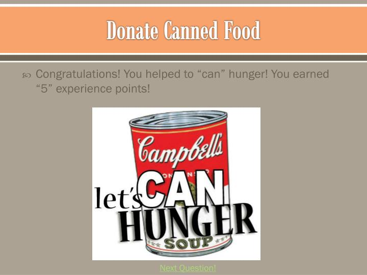 Donate Canned Food