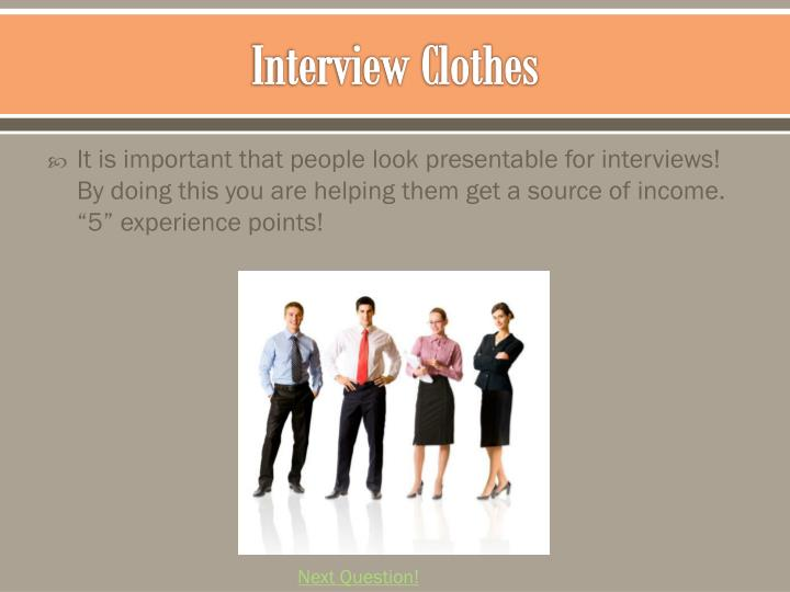 Interview Clothes
