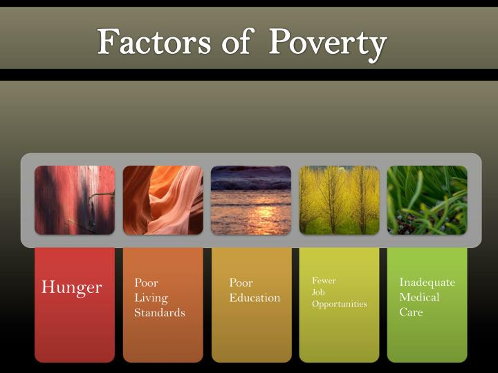 Factors of Poverty