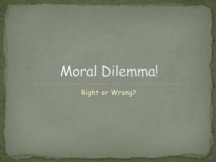 an analysis of connie sciences moral dilemma