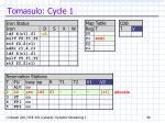 tomasulo cycle 1
