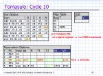 tomasulo cycle 10
