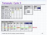tomasulo cycle 3
