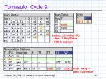 tomasulo cycle 9