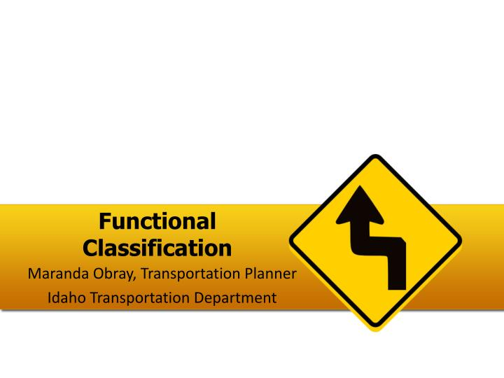 functional classification n.