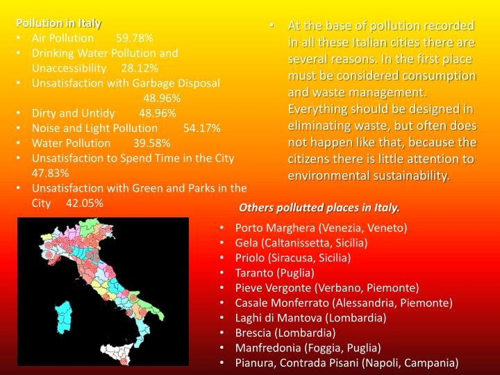 Pollution in Italy