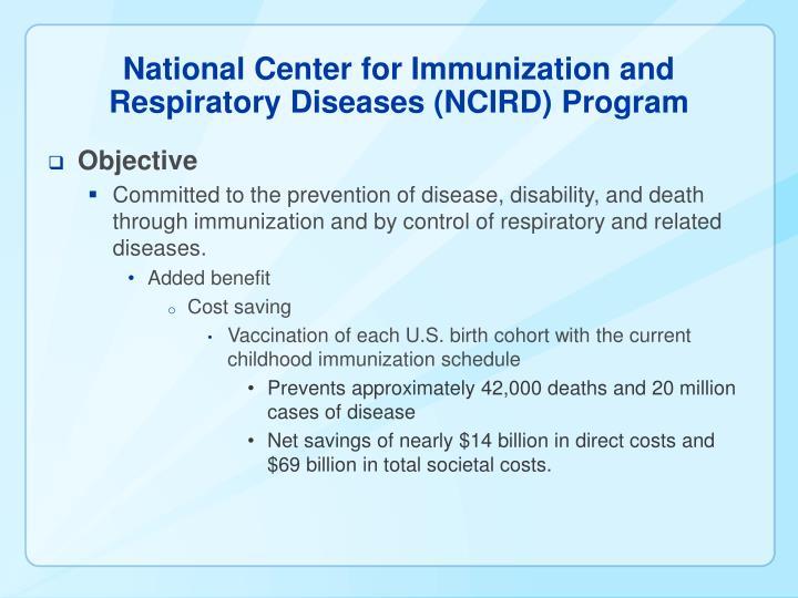 National center for immunization and respiratory diseases ncird program