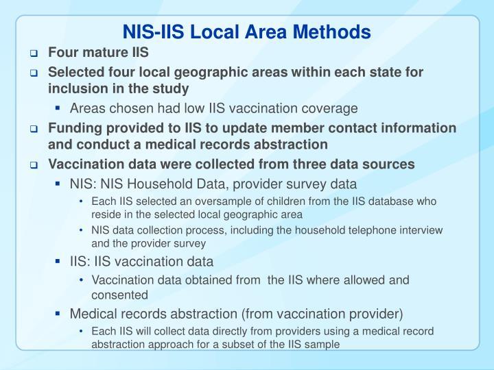NIS-IIS Local Area Methods
