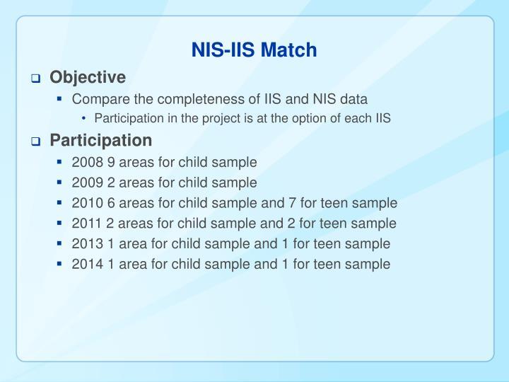 NIS-IIS Match