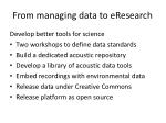 from managing data to eresearch