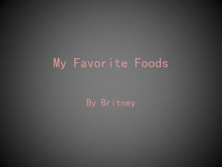 my favorite foods n.