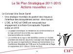 le 5 plan strat gique 2011 2015 actions nouvelles 13 15
