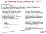 les instances de gouvernance de l oie 9 14
