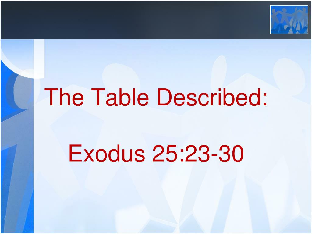 Strange Ppt The Table Of Showbread Powerpoint Presentation Id Download Free Architecture Designs Scobabritishbridgeorg
