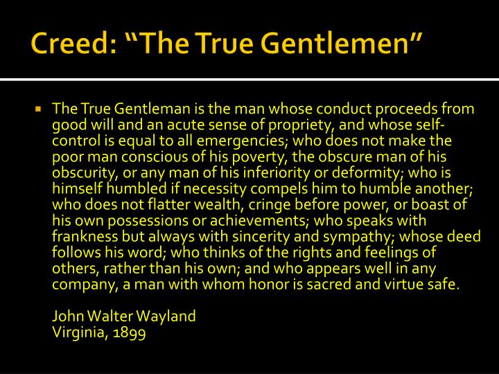 the true gentleman john walter wayland
