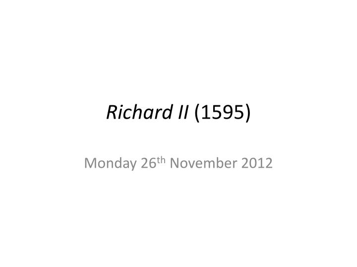 richard ii 1595 n.