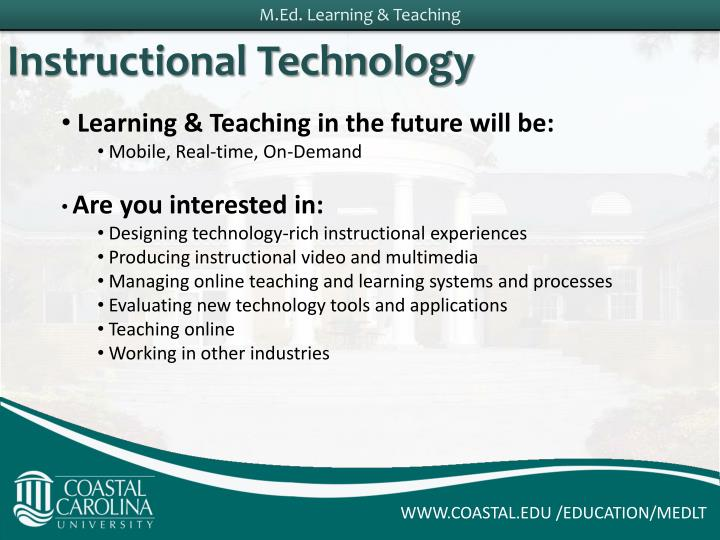 Learning & Teaching in the future will be:
