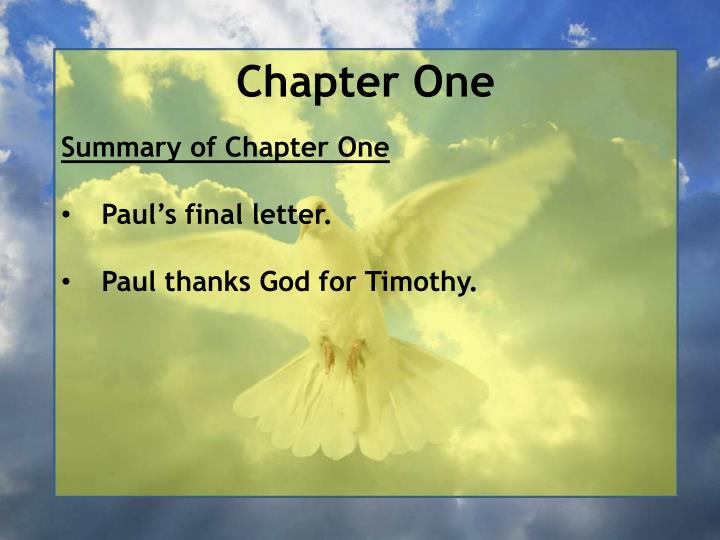 Chapter one1