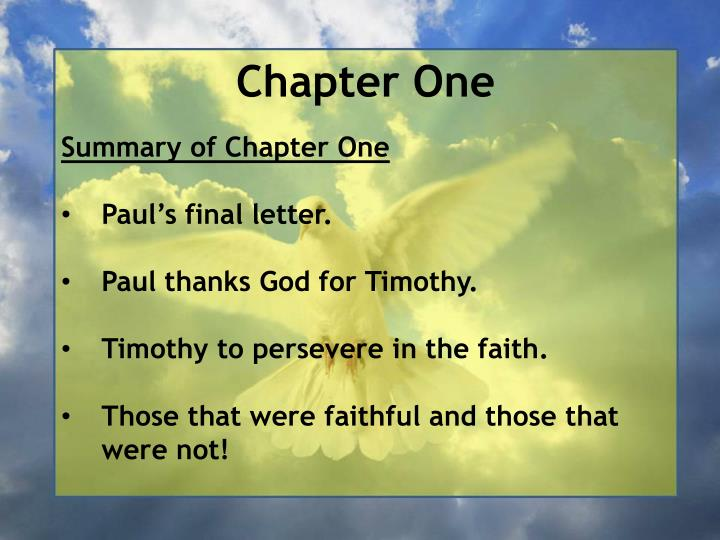 Chapter One