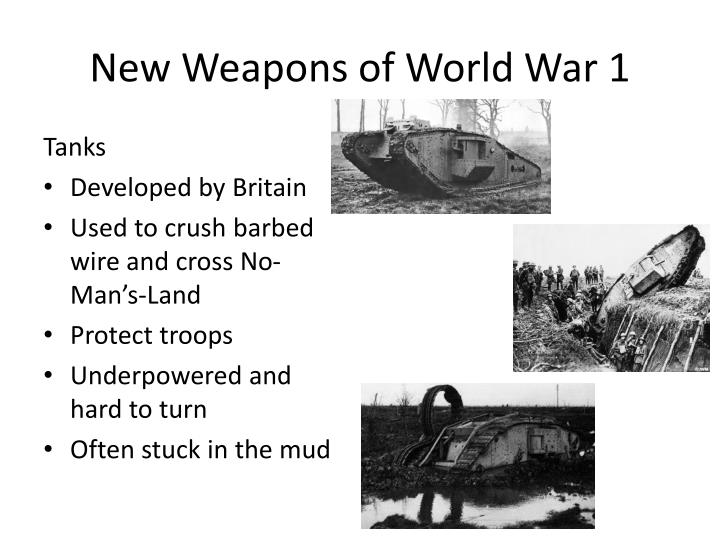New weapons of world war 11