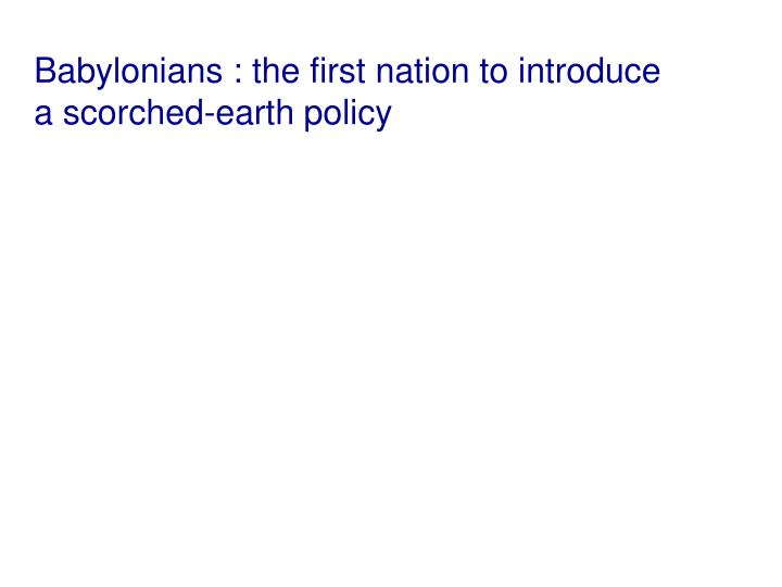 Babylonians : the first nation to introduce