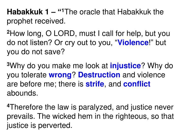 "Habakkuk 1 – """
