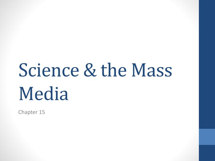 science the mass media n.