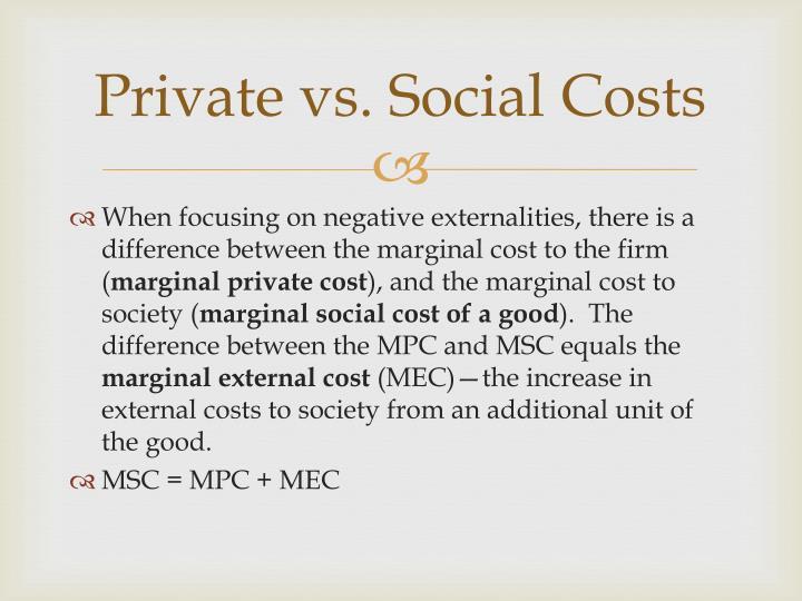 private cost vs social cost
