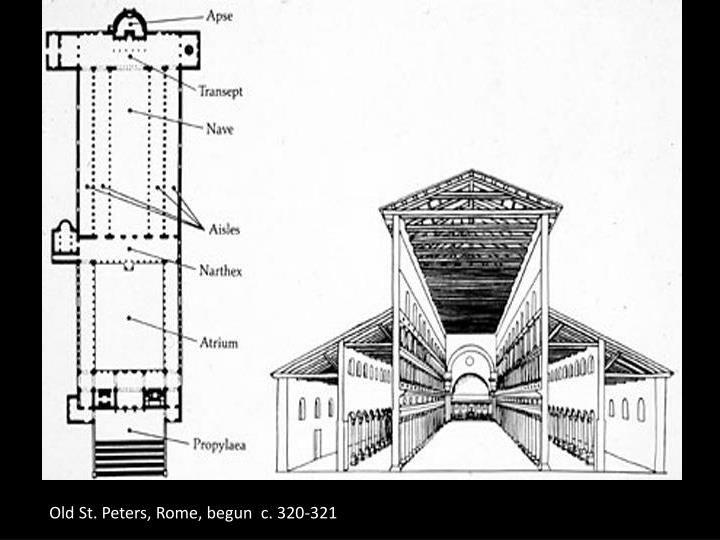 Old St. Peters, Rome, begun  c. 320-321