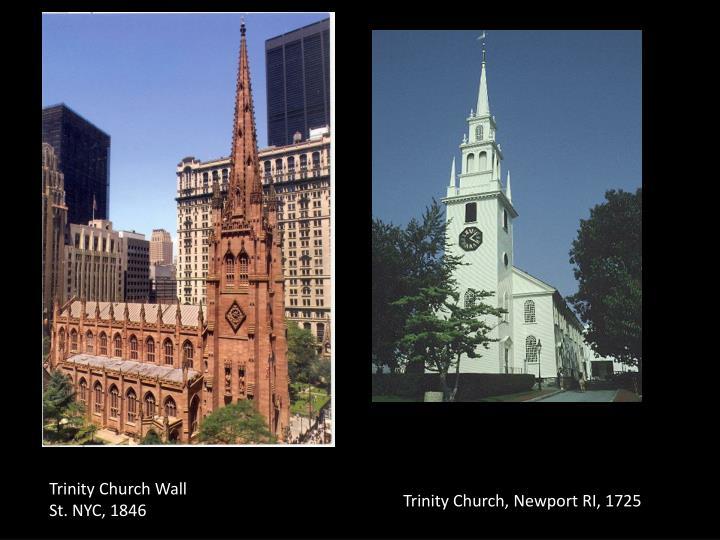 Trinity Church Wall St. NYC, 1846