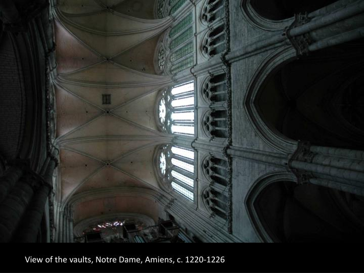 View of the vaults, Notre Dame, Amiens, c. 1220-1226
