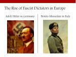 the rise of fascist dictators in europe