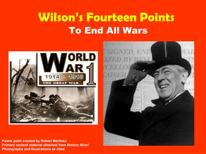 an examination of the fourteen points of president woodrow wilson