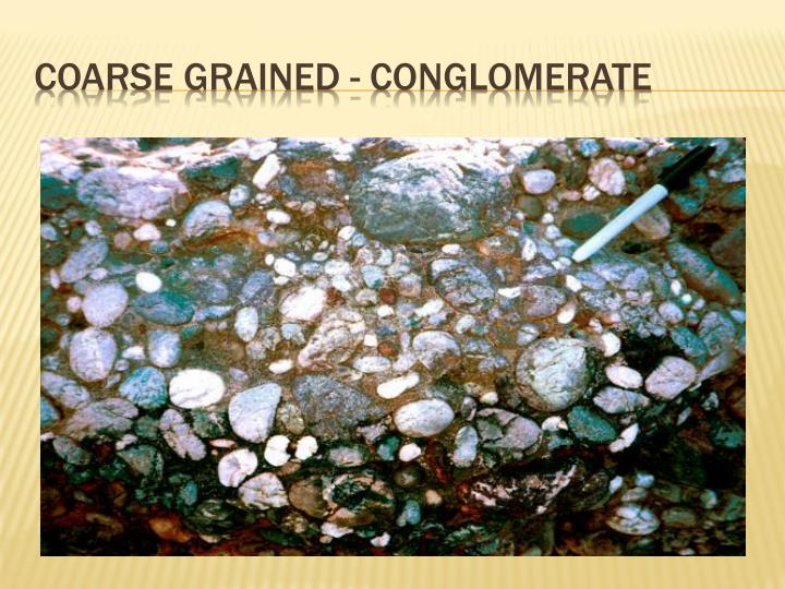 Coarse Grained - conglomerate